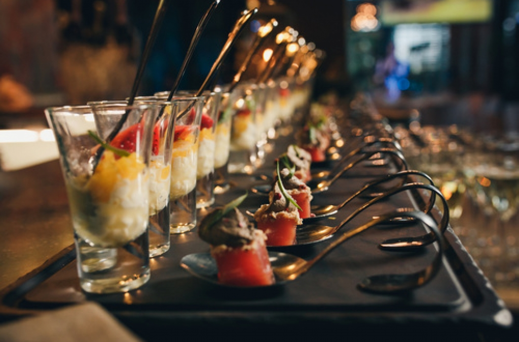 Delicious canapes as event dish